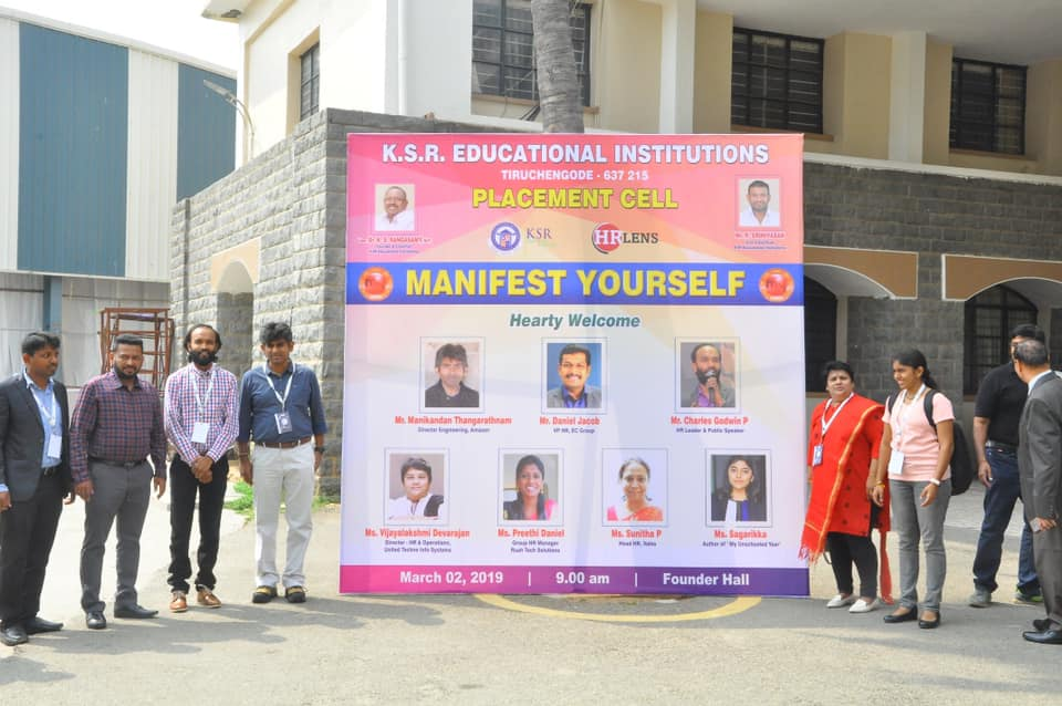 MANIFEST YOURSELF @ KSR Educational Institutions 2nd March 2019 (3rd Event)